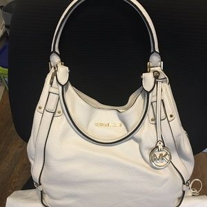 Michael Kors Optic White Shoulder Tote